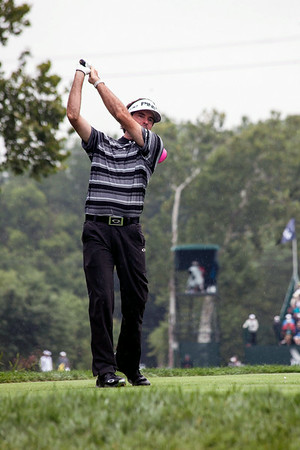 Bubba Watson drives at Valhalla during the 2nd round of the 2014 PGA Championship.