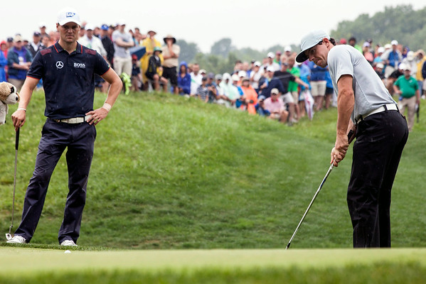 Rory McIlroy works it out at Valhalla on Friday during the 2014 PGA Championship.