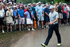 The light rain didn't stop the fans from following Rory McIlroy on Friday, and it didn't stop him from gaining the lead thanks to an eagle on the 18th hole at Valhalla.