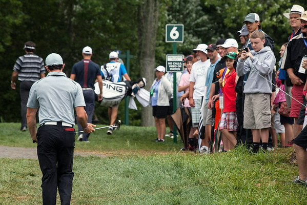 The fans lined the course to catch a glimpse of the trio comprised of Watson, McIlroy, and Kaymer.