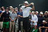 Tiger Woods continued the second round of the 2014 PGA Championship at Valhalla playing in less than his previous form.