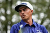 Rickie Fowler stayed on course during round 3 of the 2014 PGA Championship at Valhalla on Saturday. He was in a three way tie for 1st with Rory McIlroy and Ryan Palmer late in the day.