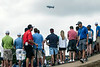 The MetLife blimp hovers over a crowd in the thousands during the 3rd round of the PGA Championship at Valhalla on Saturday.