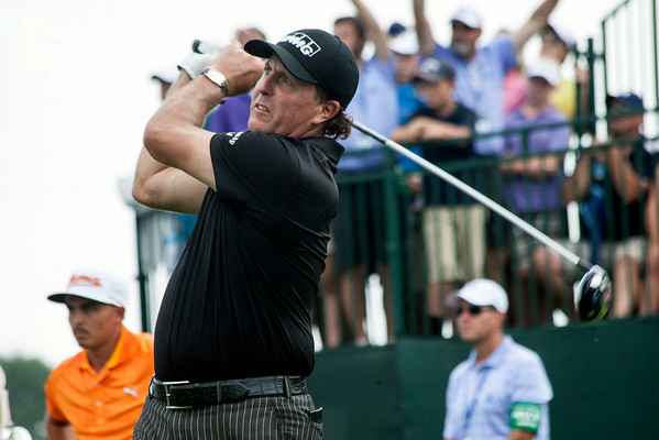 Phil Mickelson takes his first drive of the day.