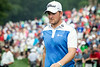 Bernd Wiesberger arrives at the first hole in second place to start the final round.