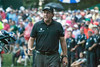 Phil Mickelson acknowledges the crowd after finishing his final round of the 2014 PGA Championship.