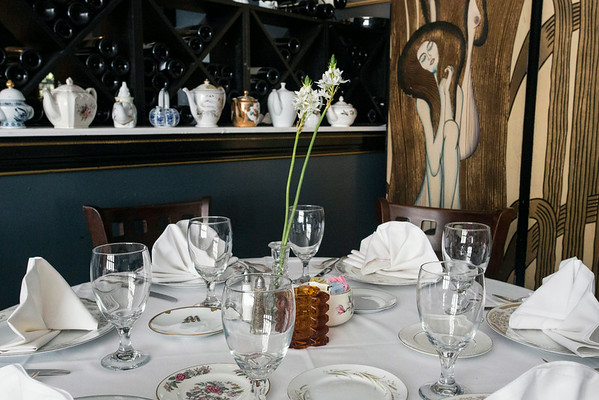 """Situated in the Mayflower Building at 425 West Ormsby Street, Buck's Restaurant & Bar features classic decor, an array of fresh flowers and outdoor eating based on a """"moon-garden"""" theme. 8/28/14"""