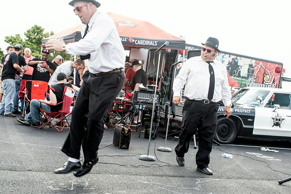 The Blues Brothers entertain the crowds another year.