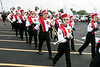 The Cards Marching Band works the tailgating scene keeping fans pumped up for the game.