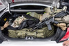 A wide range of items courtesy of the Department of Defense can be found in the squad car of Jeffersontown Police Officer Tommy McCann. The surplus donations include medical emergency tools, all-weather gear, and upgrades for his assault rifle. 9/10/14