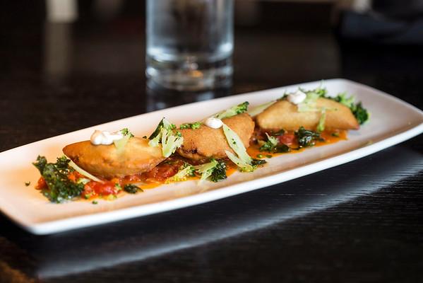 The Empanadas at Mayan Cafe are made with chorizo, potatoes, mozzarella and chunky tomato-habanero sauce. 10/13/14