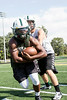 Floyd Central fullback Garry Posey provides the muscle in the back field.