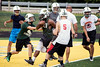 Floyd Central fullback Garry Posey provides protection and selection in the running game.