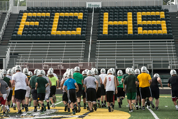 Floyd Central prepares for its upcoming season on the eve of their first scrimmage.