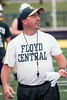 Floyd Central Head Coach Brian Glesing keeps his players motivated and upbeat while running very structured and disciplined practices.