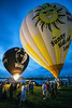 The hot air balloons began to glimmer shortly after sunset, cast against a beautiful cobalt sky and under ideal weather conditions. The picture perfect scenery provided thrills and beauty for those in attendance at the annual Derby Festival event on Waterfront Lawn Thursday night.