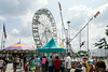 The Midway with its rides and food had a steady flow of foot traffic despite the heat on the last day of the 2014 Fair.
