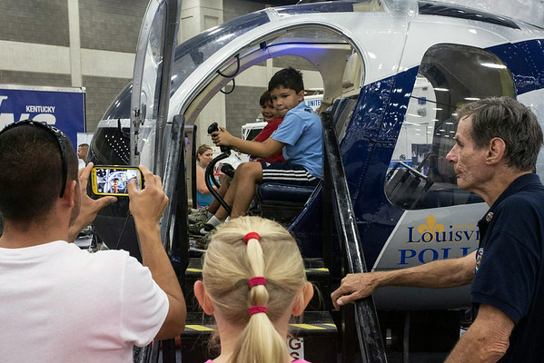 There was plenty to see and do in the exhibit halls at the Fair, and with a soaring heat index on Sunday, attendees lingered in the cooler climate.