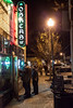 Random scenes and various faces in the crowd on a frigid night along the Baxter Avenue Bar corridor and O'Shea's Irish Pub.