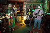 The band P.M.A. (Positive Mental Attitude) entertained thirsty patrons in the front of the house at O'Shea's Irish Pub.