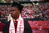 NCAA Champion, and now NBA player, Gorgui Dieng returned to the court he played on in 2013 to receive his diploma from UofL on Sunday afternoon. 5/10/15