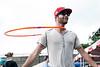 Matt Ryan shows off his hula hoop skills during the Kentuckiana Pride Festival on Saturday. 6/20/15