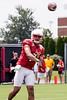 UofL quarterback Reggie Bonnafon passes down field during practice on Saturday afternoon. 8/8/15