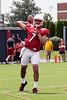 UofL quarterback Reggie Bonnafon prepares for his sophomore season during an open practice on Saturday afternoon. 8/8/15