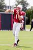 UofL quarterback Will Gardner runs through passing drills during practice on Saturday afternoon. 8/8/15