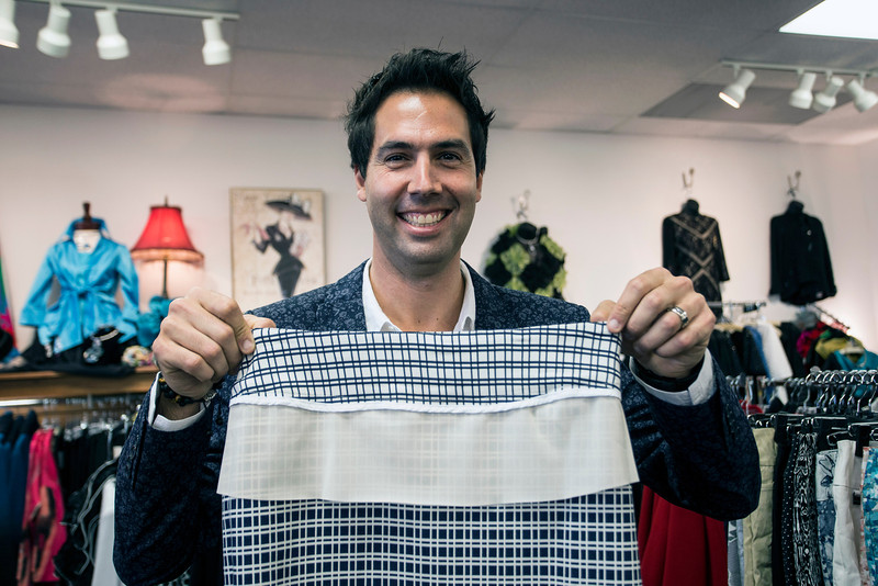 David Small of Lisette Montreal reveals one of the secrets to his popular line of flattering pants: a hidden band inside the waistline. 9/17/15