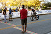 Jason Sandquist of Canada was the first to complete the bike portion of the Louisville Ironman on Sunday with a time of 5:03:57. 10/11/15