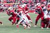 UofL RB Brandon Radcliff evades the Syracuse defense during his 117 yard performance on Saturday. 11/7/15
