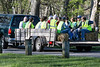 Olmsted Parks volunteers are shuttled up Pee Wee Reese Road in Seneca Park to clean up the boundary between the park and its bordering neighbors. 4/14/16