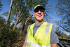 Olmsted Parks project director Major Waltman was all smiles as he watched over thirty-eight volunteers during a clean-up in Seneca Park on Thursday afternoon. 4/14/16
