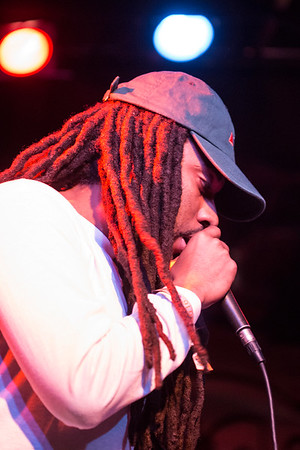 Local favorite JaLin Roze participates in a late night cypher during the LouiEvolve Hip Hop & Arts Festival. 4/17/16