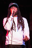 Louisville rapper JaLin Roze takes the stage during the LouiEvolve Hip Hop & Arts Festival. 4/17/16