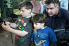 Ian and Kai Mahaffey, along with their father Dexter, were some of the lucky few that got the first look at the Louisville Zoo's baby gorilla Kindi on Wednesday. 4/20/16