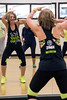 Zumba fitness instructor Stephanie Lackey shows off her moves during a recent class at the Baptist East/Milestone Wellness Center in St. Matthews. 4/25/16