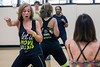 Stephanie Lackey leads a class in Zumba Fitness at the Baptist East/Milestone Wellness Center on Monday night. 4/25/16