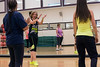 Zumba fitness instructor Stephanie Lackey applauds her class between songs. 4/25/16