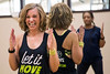With a constant smile and unlimited energy, Stephanie Lackey leads a Monday night Zumba Fitness class at Baptist East/Milestone Wellness Center in St. Matthews. 4/25/16