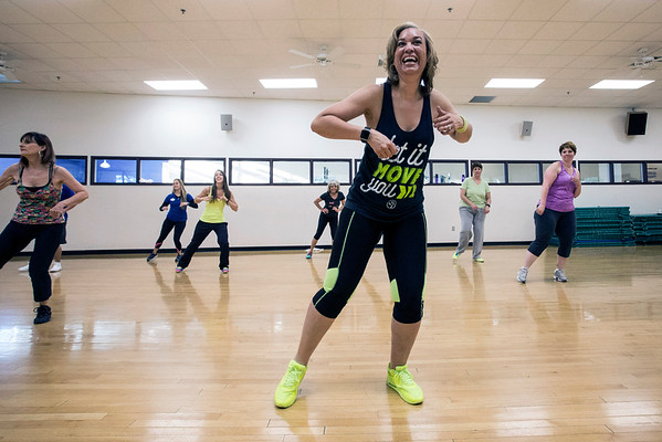 Stephanie Lackey runs a popular Zumba class at the Baptist East/Milestone Wellness Center in St. Matthews. 4/25/16