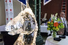 A horse head ice sculpture was on display during the 2016 Taste of Derby Festival Tuesday night at Slugger Field. 4/26/16