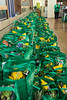 Bags of healthy groceries await the first 250 customers through the door of the new Fresh Thyme in St. Matthews on Wednesday morning. 4/27/16