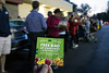 A voucher for a free bag of groceries was the early morning promotion at the new Fresh Thyme on Shelbyville Road Wednesday morning. 4/27/16