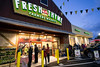 The Fresh Thyme on Shelbyville Road drew a crowd early Wednesday morning as the first 250 people in line received a free bag of groceries. 4/27/16