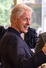 Bill Clinton greets patrons and staff at the Heine Bros Coffeeshop at Fourth Street Live on Tuesday afternoon. 5/3/16