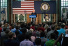 Former president Bill Clinton spoke at a campaign rally held in the African American Heritage Center on Tuesday afternoon to campaign for his wife and presidential nominee Hillary Clinton. 5/3/16
