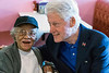 Roberta Wilson gets some unexpected company on Tuesday afternoon as former president Bill Clinton joined her for lunch at Franco's on Dixie Highway. 5/3/16