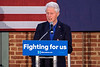 Former president Bill Clinton spoke to a crowd of Hillary supporters at the African American Heritage Center at 17th & Muhammad Ali on Tuesday afternoon. 5/3/16